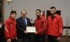 WCFF Başkanı'ndan Rektörümüze Teşekkür Belgesi