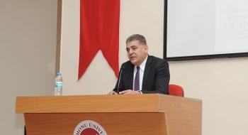 """Üniversitemizde """"Aşkın Hû Hali: Hazret-i Mevlana ve Aşk"""" Konulu Konferans Düzenlendi"""