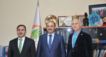 Uluslararası Bilimsel Forum Hazırlıkları için Rektörümüz Aydın'dan Çölleşme ve Erozyonla Mücadele Genel Müdürü'ne Ziyaret