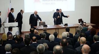 Rektörümüz Prof. Dr. Seyit Aydın, Cumhurbaşkanımız Recep Tayyip Erdoğan'la Görüştü