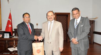 Hindistan KIIT Üniversitesinden Rektörlüğümüze Ziyaret