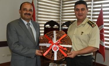 İl Jandarma Komutanından Rektörümüze Ziyaret