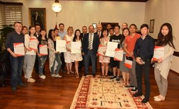 Kazak Tarım Teknik Üniversitesi, Teknoloji Makineleri ve Ekipmanları Fakültesi Yüksek Lisans Öğrencilerinden Üniversitemize Ziyaret